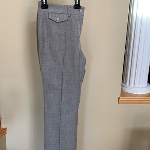 Wool pant with silk lining.